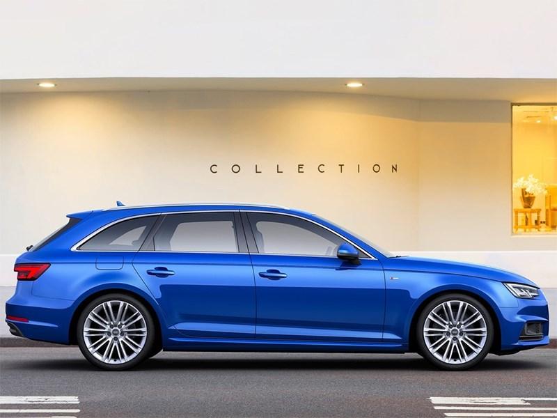 Audi A4 Avant 2016 вид сбоку