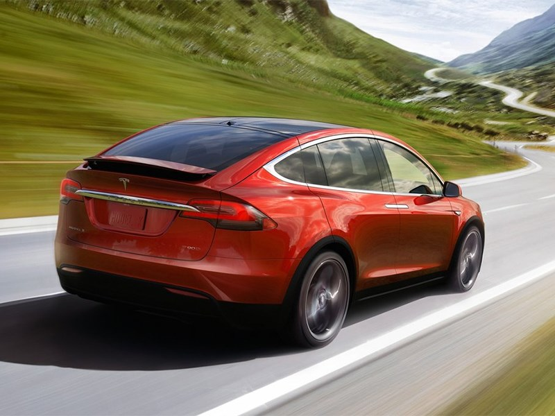 Tesla Model X 2017 вид сзади