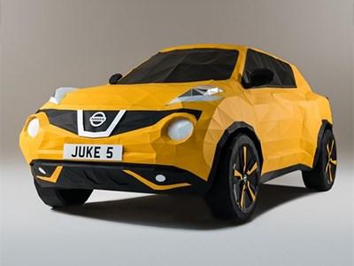 Nissan построил бумажный Juke