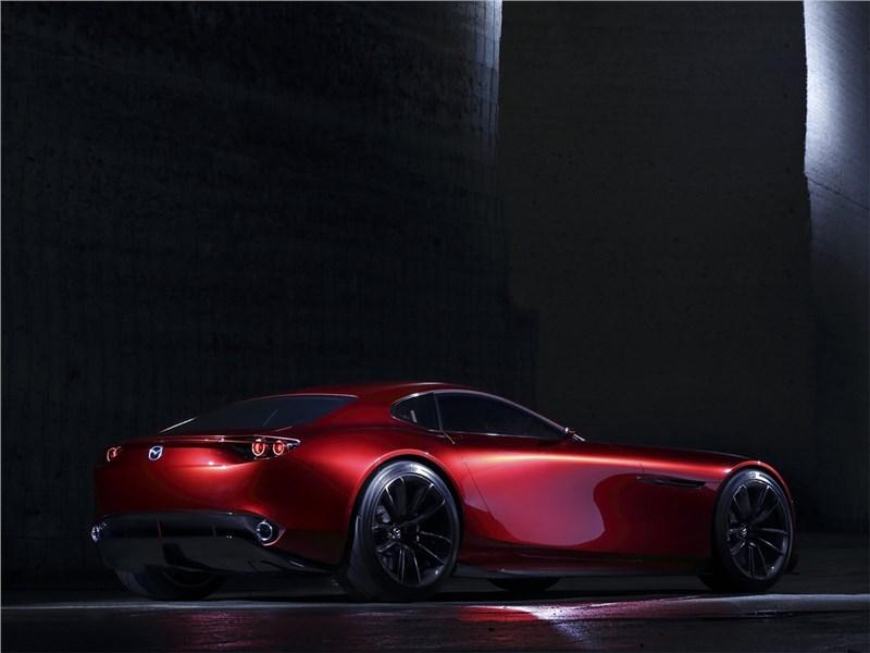 Mazda RX-Vision Concept 2015 вид сзади сбоку