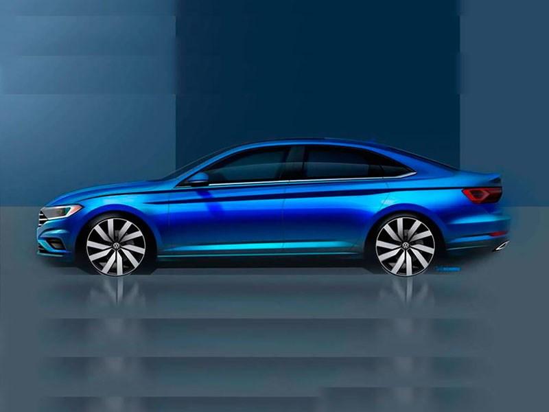 Volkswagen показал профиль новой Jetta