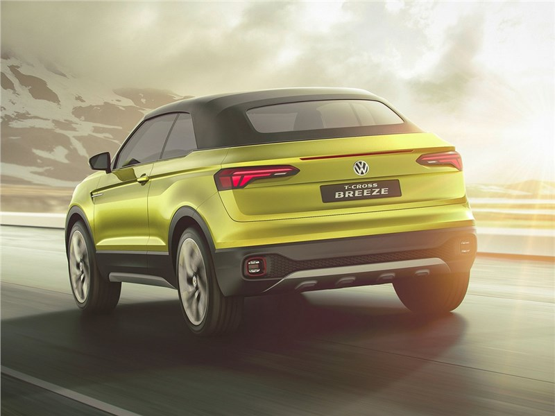 Volkswagen T-Cross Breeze Concept 2016 вид сзади