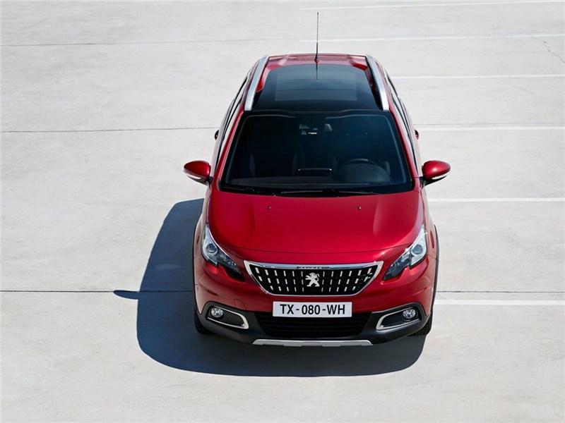 Peugeot 2008 2017 вид сверху