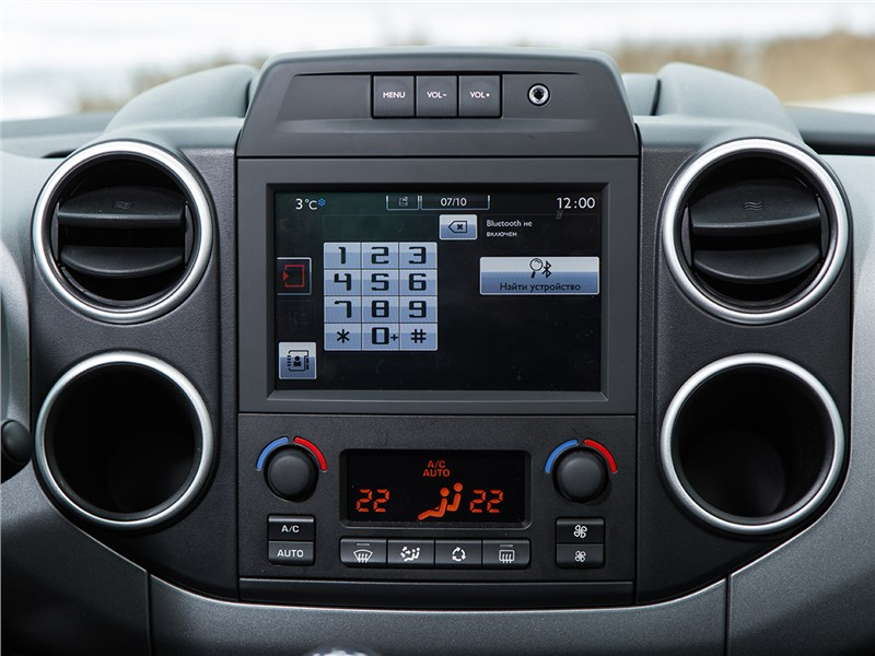 Citroen Berlingo 2015 центральная консоль