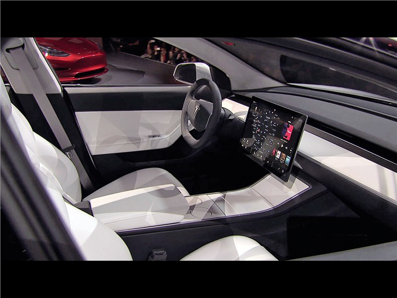 Tesla Model 3 concept 2016 салон
