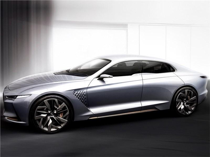 Hyundai Genesis New York Concept 2016 вид спереди сбоку