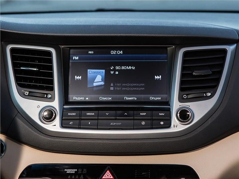 Hyundai Tucson 2016 монитор компьютера