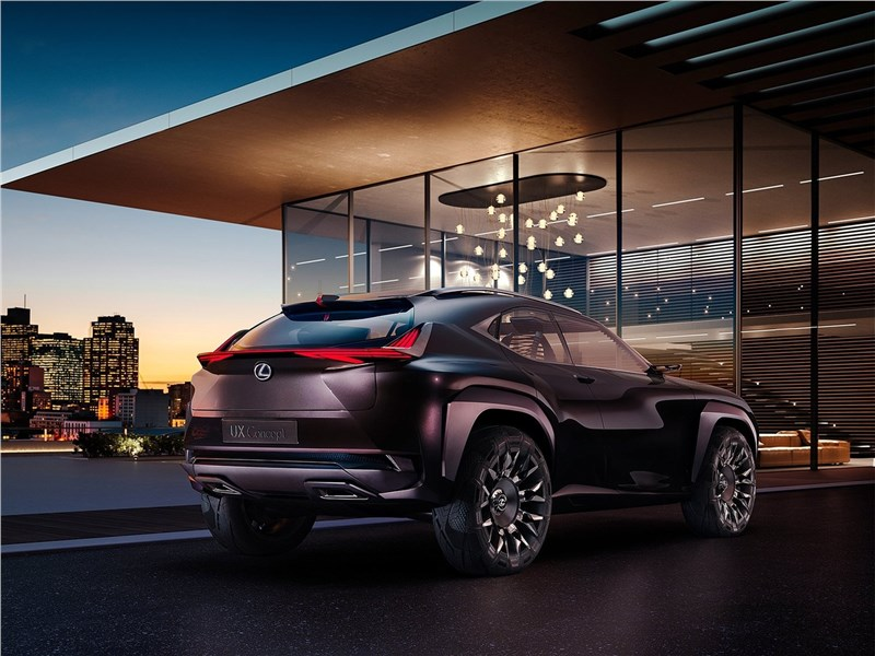 Lexus UX concept 2016 вид сзади