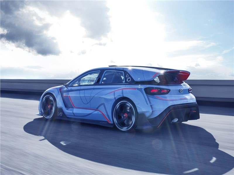 Hyundai RN30 Concept 2016 вид сбоку сзади