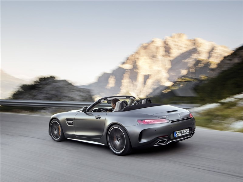 Mercedes-AMG GT C Roadster 2017 вид сзади
