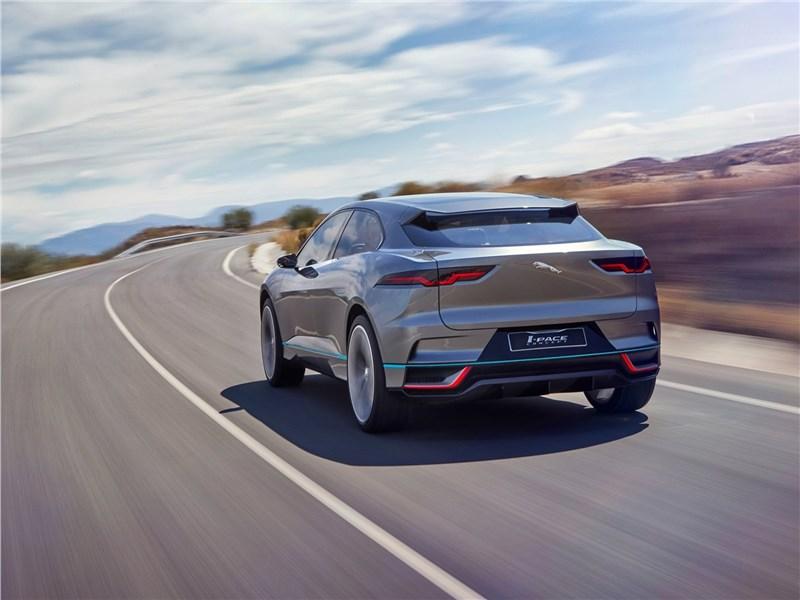 Jaguar I-Pace Concept 2016 вид сзади