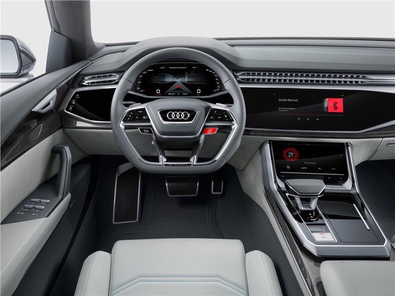 Audi Q8 concept 2017 водительское место