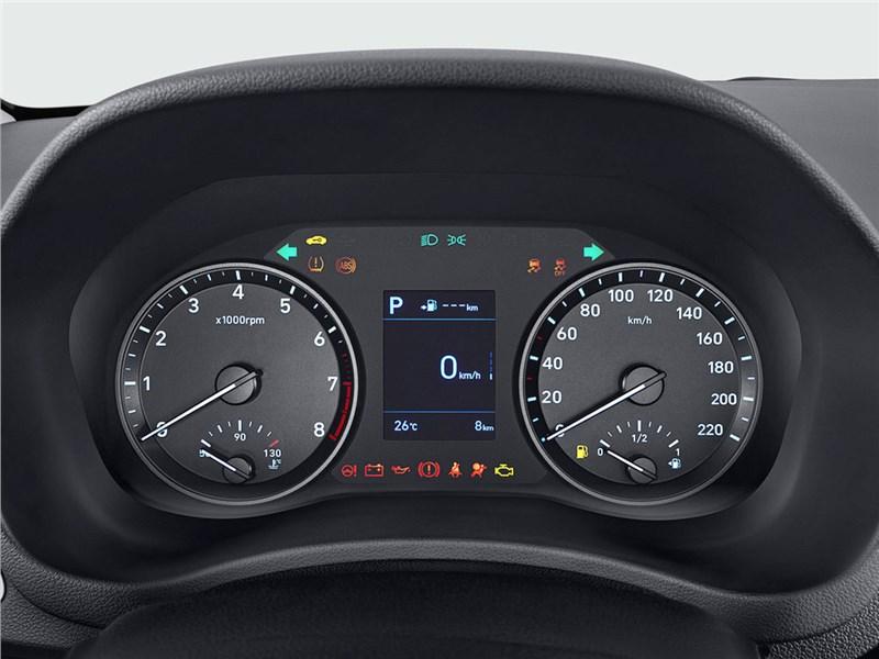 Hyundai Solaris 2017 приборная панель