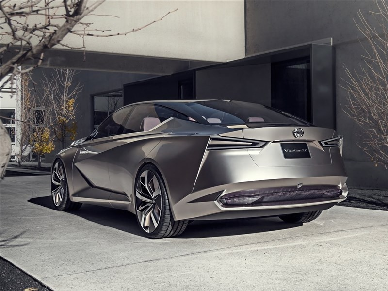Nissan Vmotion 2.0 Concept 2017 вид сбоку сзади