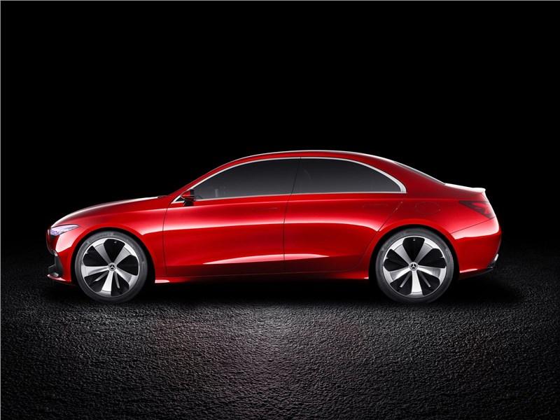Mercedes-Benz A Sedan Concept 2017 вид сбоку