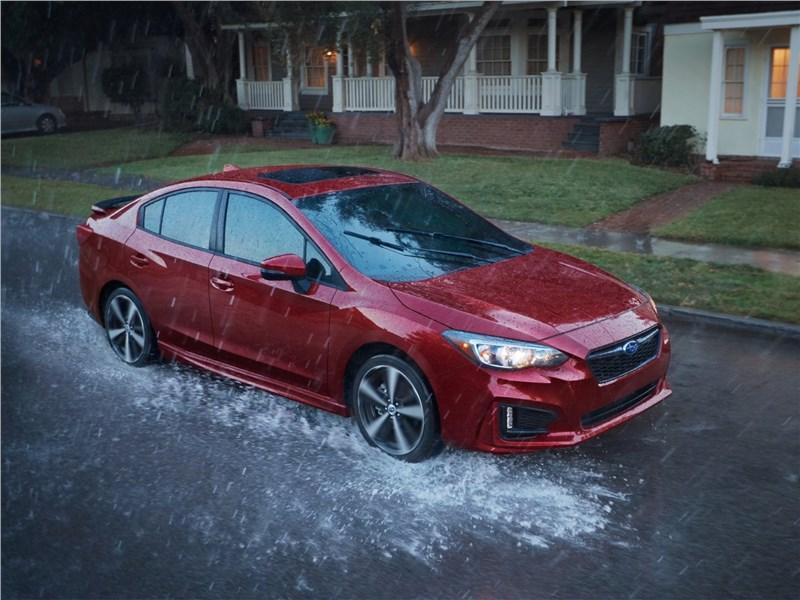 Subaru Impreza 2017 вид сверху