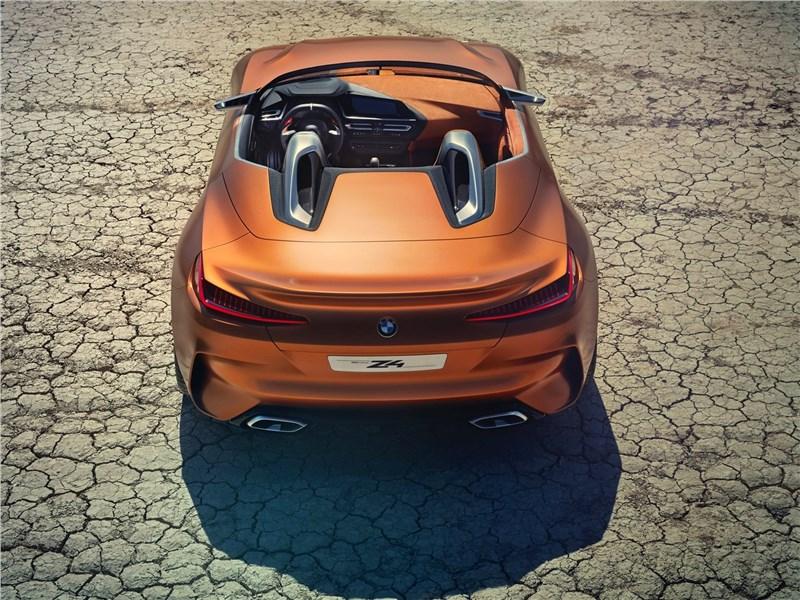 BMW Z4 Concept 2017 вид сверху сзади