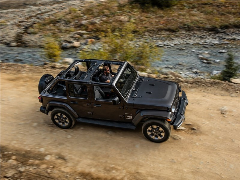 Jeep Wrangler Unlimited 2018 вид сверху