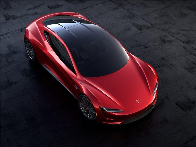 Tesla Rodster Concept 2020 вид сверху