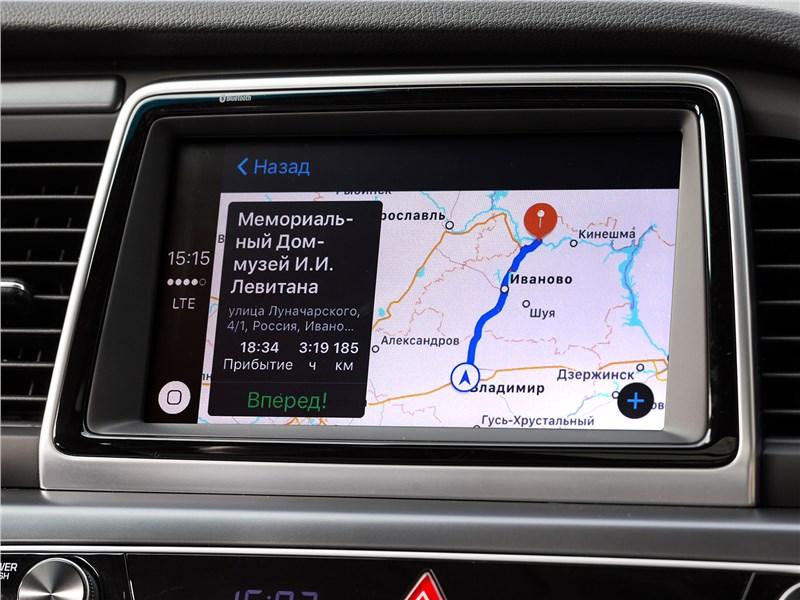 Hyundai Sonata 2018 дисплей