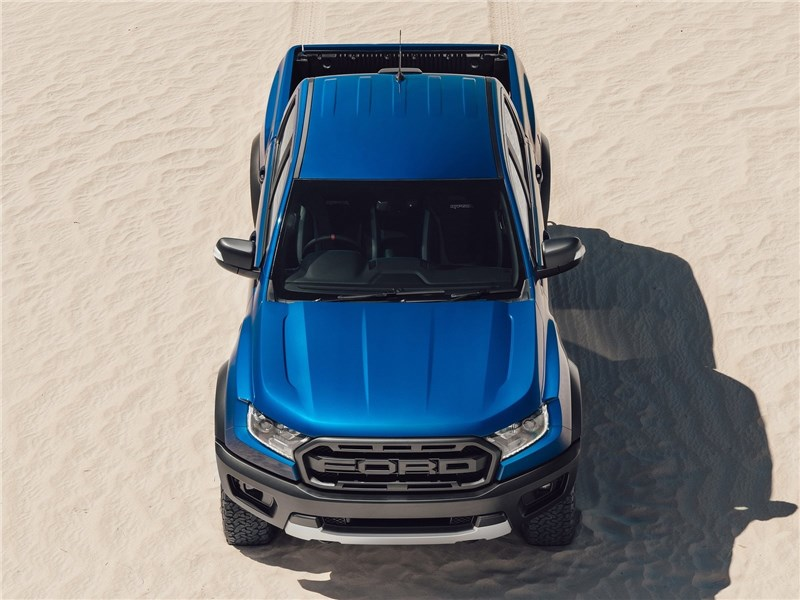 Ford Ranger Raptor 2019 вид спереди сверху