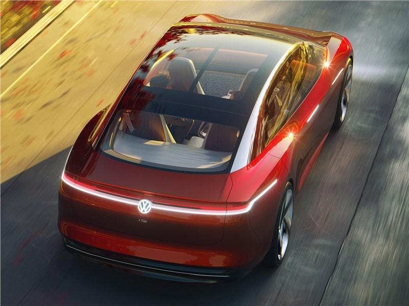 Volkswagen ID Vizzion Concept 2018 вид сзади сверху