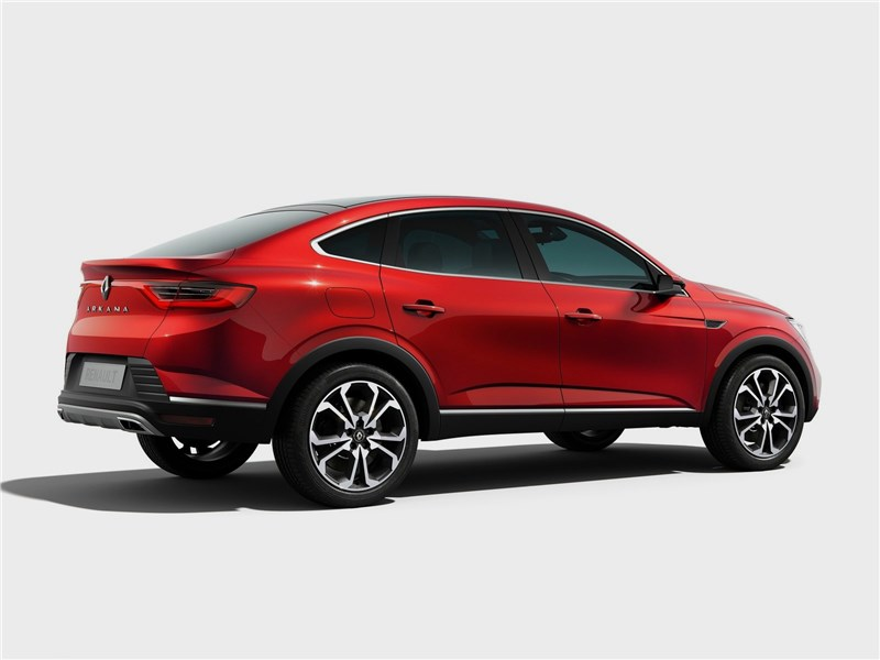 Renault Arkana Concept 2018 вид сбоку сзади