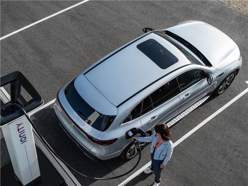 Mercedes-Benz EQC 2020 вид сверху