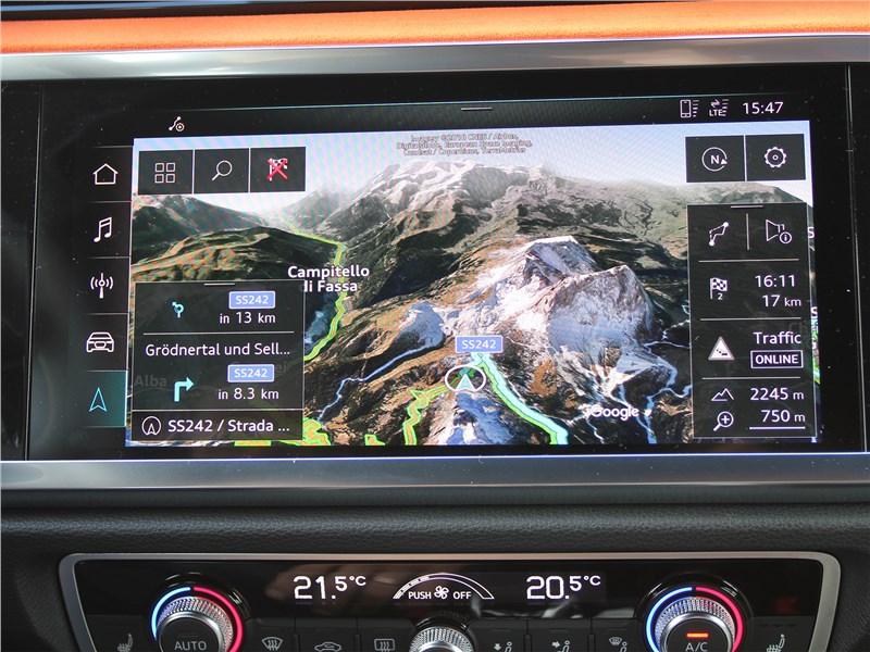 Audi Q3 2019 монитор