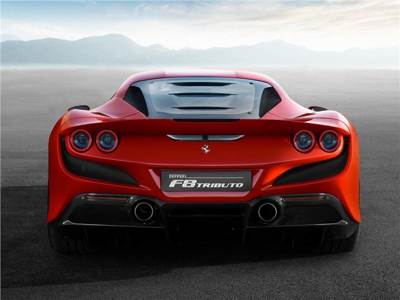 Ferrari F8 Tributo 2020 вид сзади