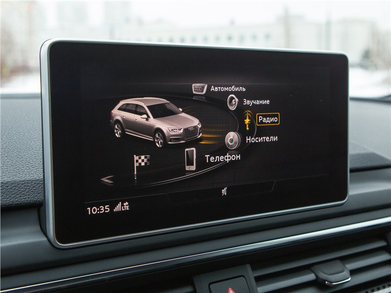 Audi RS4 Avant 2018 монитор