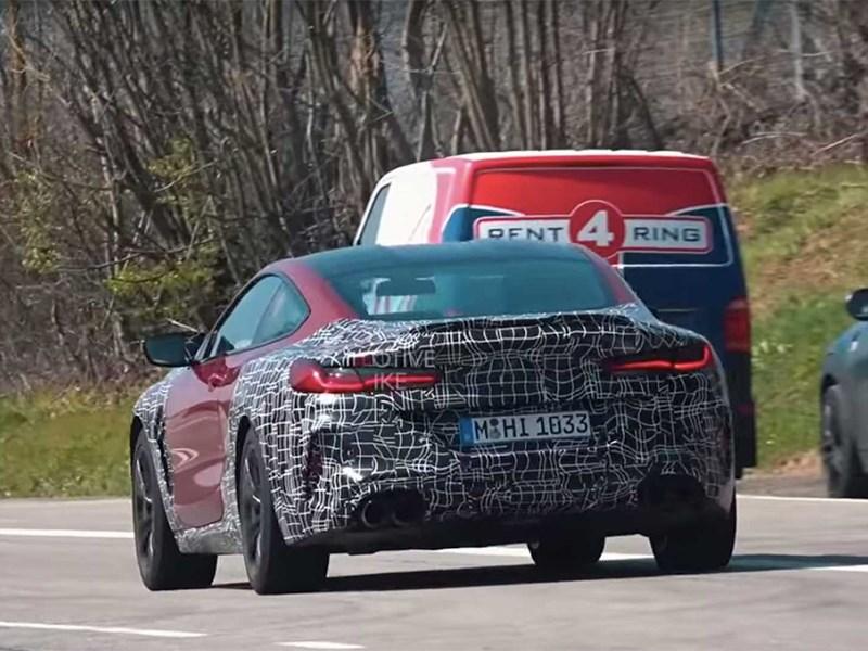 BMW M8 с минимальным камуфляжем застали на Нордшляйфе Фото Авто Коломна