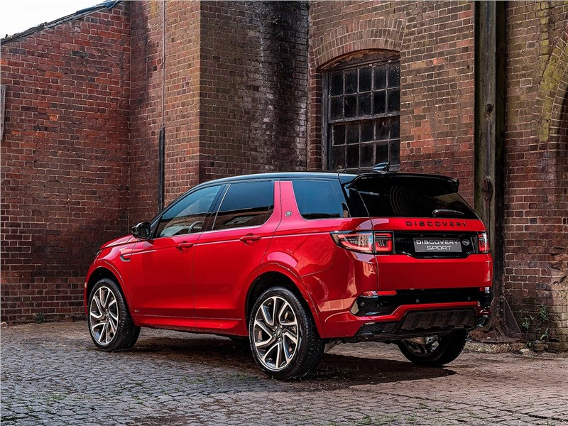 Land Rover Discovery Sport 2020 вид сбоку сзади