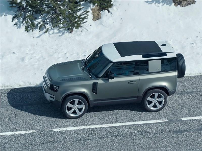 Land Rover Defender 90 2020 вид сбоку сверху