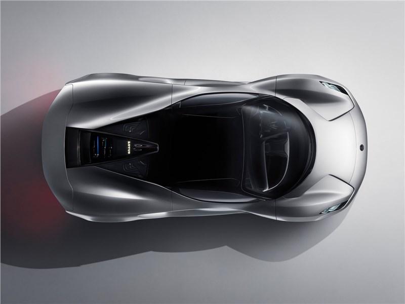 Lotus Evija 2020 вид сверху