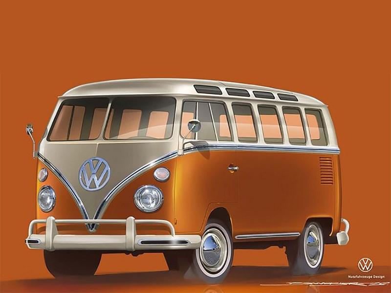 Volkswagen представил электрический Ретро фургон Фото Авто Коломна
