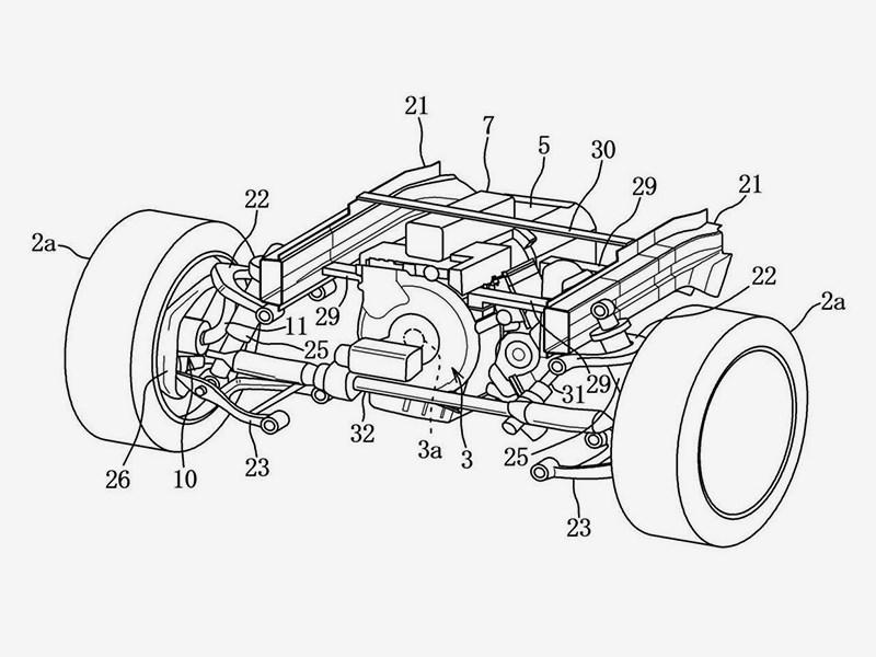 Mazda запатентовала новую силовую установку и полный привод