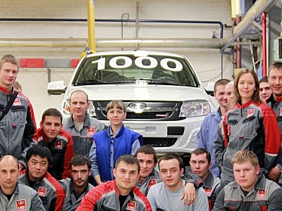 С конвейера сошел тысячный автомобиль Lada Granta Sport