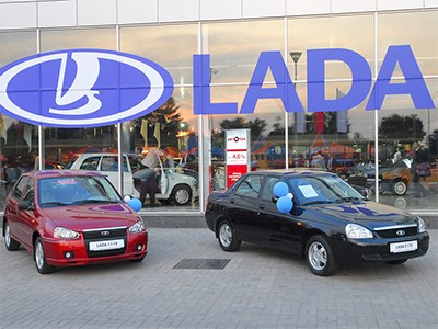 Автомобили Lada больше не поставляются на Украину