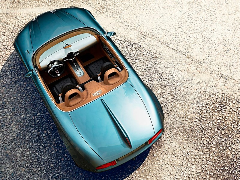 MINI Superleggera Vision concept 2014 вид сверху