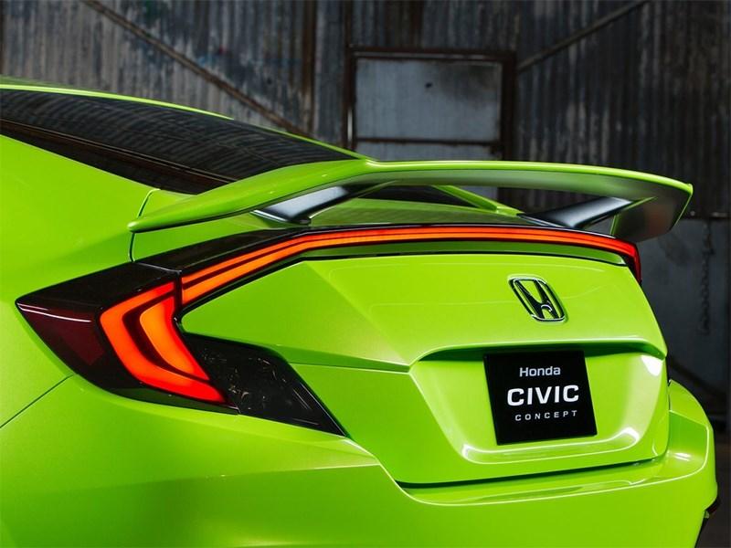 Honda Civic Concept 2015 заднее антикрыло