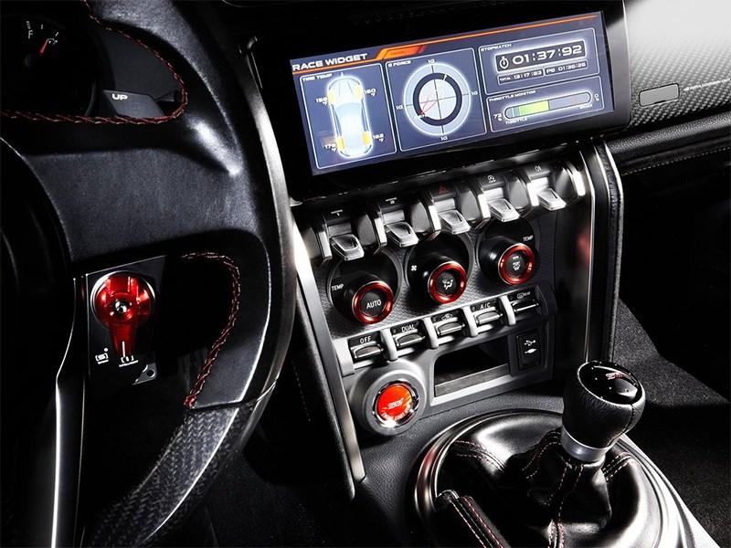 Subaru BRZ STI центральная консоль