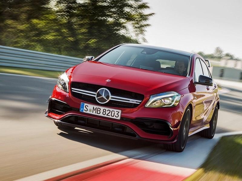 Новый Mercedes-Benz A-Class - Mercedes-Benz A45 AMG 2015 Первый в гольф-классе