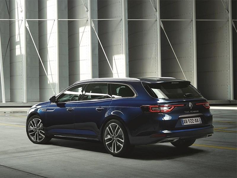 Renault Talisman Estate 2016 вид сзади сбоку