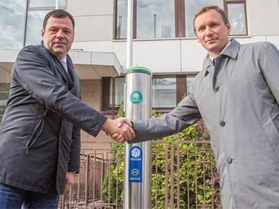 В Москве появилась первая зарядная станция для электрокаров
