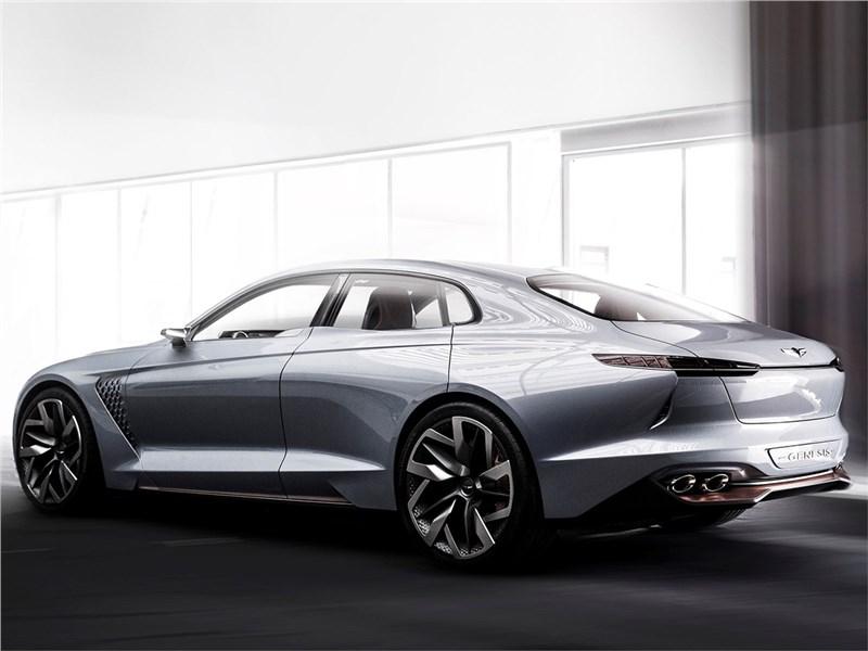 Hyundai Genesis New York Concept 2016 вид сбоку сзади