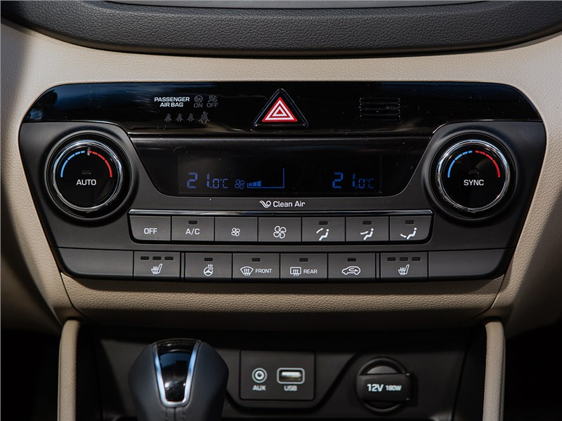 Hyundai Tucson 2016 управление климатом