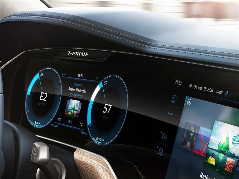 Volkswagen T-Prime Concept GTE 2016 приборная панель