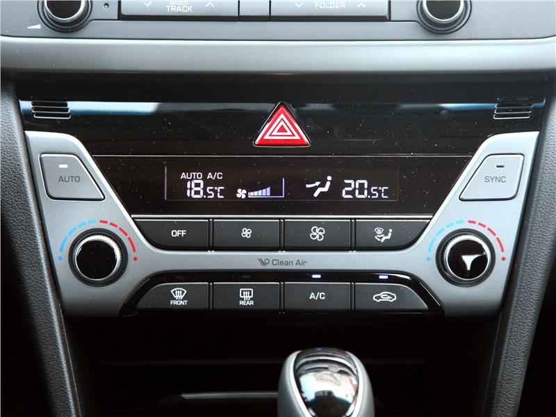 Hyundai Elantra 2017 управление климатом