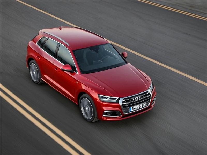 Audi Q5 2017 вид сверху